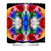 Loving Wisdom Abstract Living Artwork Shower Curtain