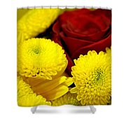 Loving Yellow Shower Curtain