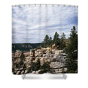 Low Angle View Of A Building, Grand Shower Curtain