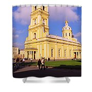 Low Angle View Of A Cathedral, Peter Shower Curtain