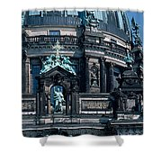Low Angle View Of A Church, Berliner Shower Curtain