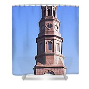 Low Angle View Of A Church, St. Philips Shower Curtain