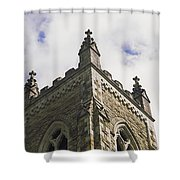 Low Angle View Of A Church, Trinity Shower Curtain