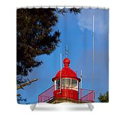 Low Angle View Of A Lighthouse, Morgat Shower Curtain