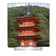 Low Angle View Of A Small Pagoda Shower Curtain