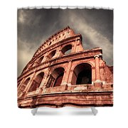 Low Angle View Of The Roman Colosseum Shower Curtain by Stefano Senise