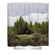 Low Clouds On The Mountain Shower Curtain