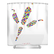 Low Poly Raven Footprint Shower Curtain