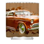 Low Rider Car Shower Curtain