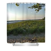 Low Sun On The Dunes Shower Curtain