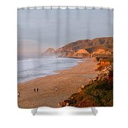 Low Sun On The Pacific Shower Curtain
