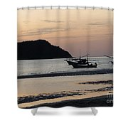 Low Tide 02 Shower Curtain