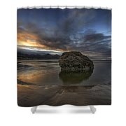 Low Tide At Cannon Beach Oregon Shower Curtain