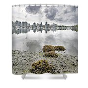 Low Tide At False Creek In Stanley Park Shower Curtain