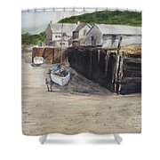 Low Tide At High Noon Shower Curtain