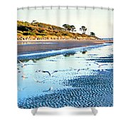 Low Tide At Jekyll Island Shower Curtain