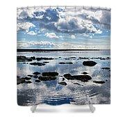 Low Tide At Lyme Regis 2 Shower Curtain