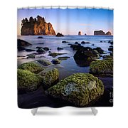 Low Tide At Second Beach Shower Curtain