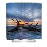 Low Tide At Sunrise Shower Curtain