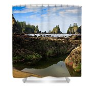 Low Tide At The Arches Shower Curtain