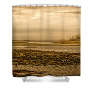 Low Tide Cape Porpoise Maine Shower Curtain