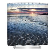 Low Tide East Beach Shower Curtain