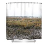 Low Tide Fog Shower Curtain