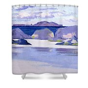 Low Tide  Iona Shower Curtain by Francis Campbell Boileau Cadell