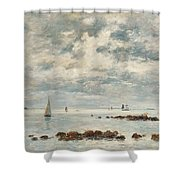 Low Tide Saint Vaast La Hougue Shower Curtain