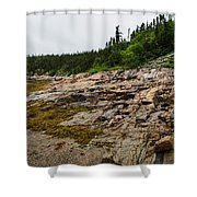 Low Tide - Walking On The Bottom Of Saint Lawrence River Shower Curtain