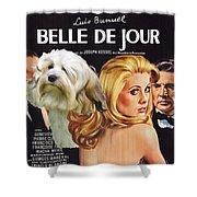 Lowchen Art - Belle De Jour Movie Poster Shower Curtain