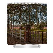 Lowcountry Gates To Boone Hall Plantation Shower Curtain