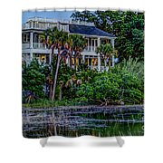 Lowcountry Home On The Wando River Shower Curtain