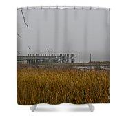 Lowcountry Marsh Fog Shower Curtain
