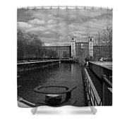 Lowell Ma Architecture Bw Shower Curtain