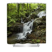 Lower Amicalola Falls Shower Curtain by Debra and Dave Vanderlaan