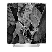 Lower Antelope Glow Black And White Shower Curtain