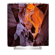 Lower Antelope Glow Shower Curtain