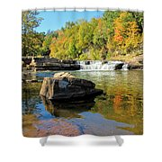Lower Falls And Stream Shower Curtain