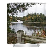 Lower Falls In Fall Shower Curtain