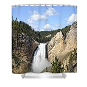 Lower Falls In Yellowstone National Park Shower Curtain