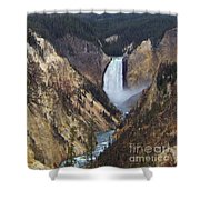 Lower Falls Of The Yellowstone River Shower Curtain