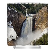 Lower Falls Of The Yellowstone Shower Curtain