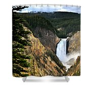 Lower Falls On The Yellowstone River Shower Curtain
