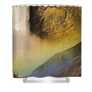 Lower Falls Rainbow - Yellowstone Shower Curtain