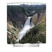 Lower Falls Yellowstone Shower Curtain