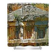 Lower-level Tomb In Myra-turkey Shower Curtain