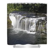 Lower Lewis River Falls Shower Curtain