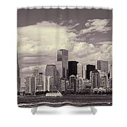 Lower Manhattan Skyline 2 Shower Curtain