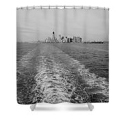 Lower New York In Black And White Shower Curtain